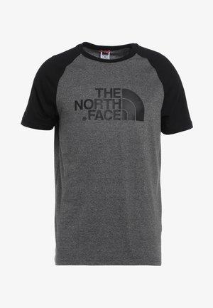 RAGLAN EASY TEE  - T-Shirt print - mottled grey/black