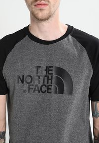 The North Face - RAGLAN EASY TEE  - T-shirt print - mottled grey/black - 4