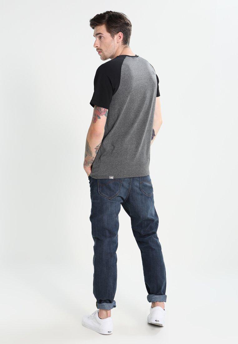 shirt Grey North Imprimé TeeT Raglan Mottled Face The black Easy yvwnm80ON