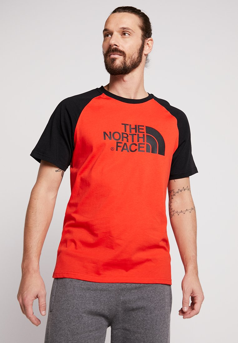 The North Face - RAGLAN EASY TEE  - T-Shirt print - fiery red