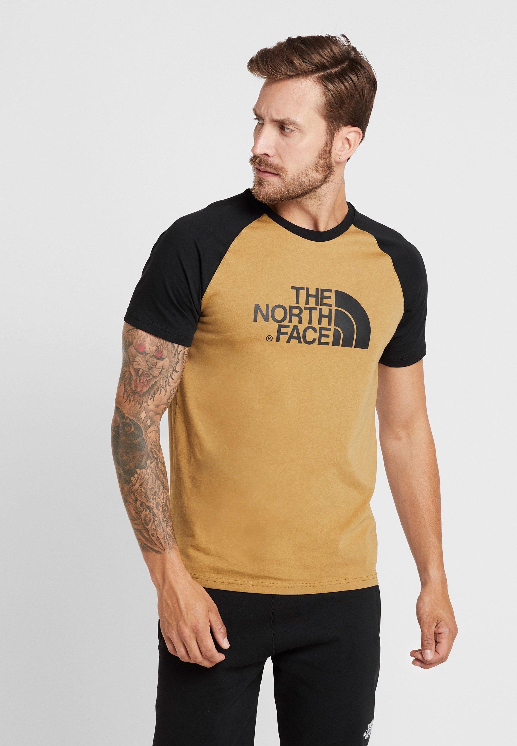 The Face TeeT Stampa Raglan Easy shirt Khaki British North Con qzpSVMUGjL