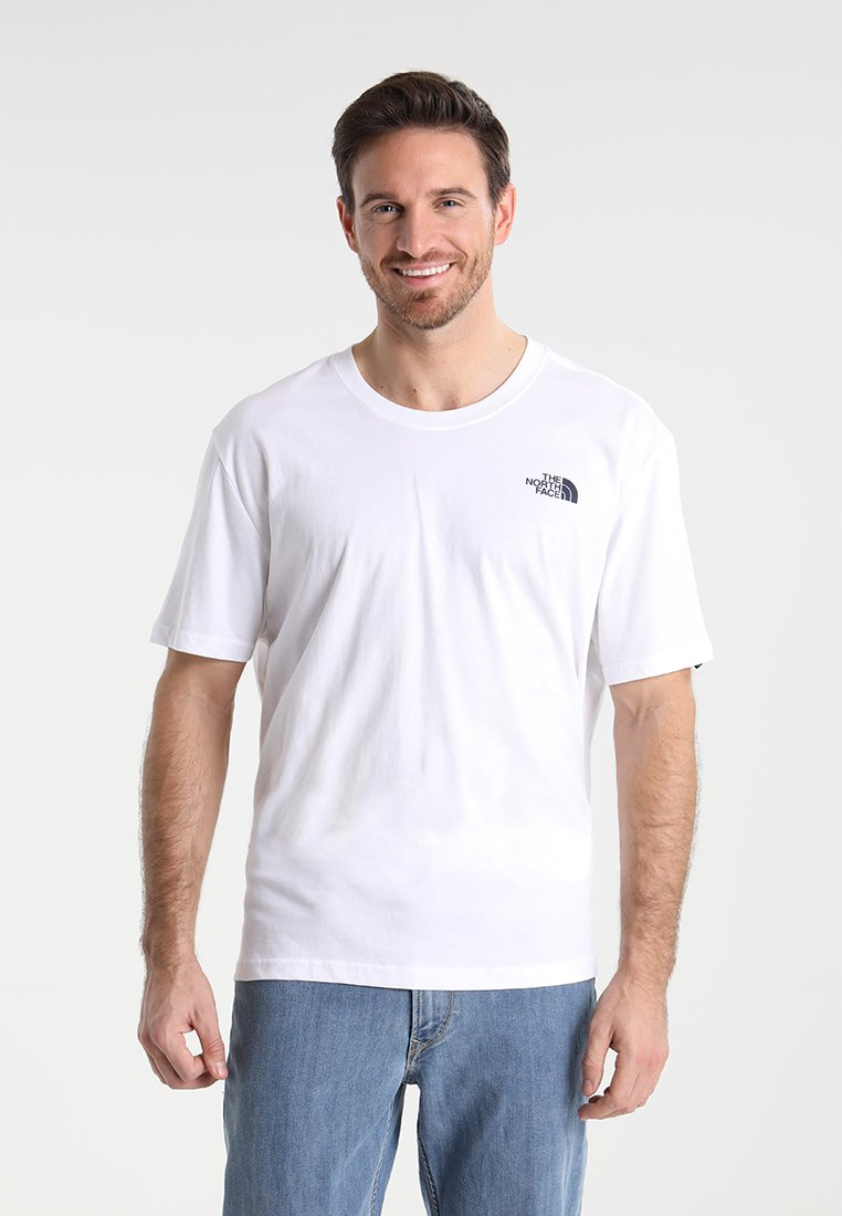 The North Face - CEL TEE - T-shirt imprimé - wh/navy