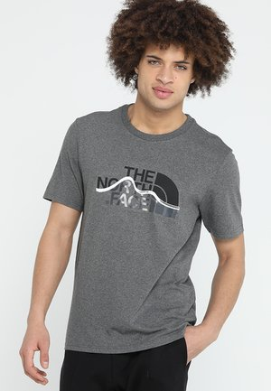 MOUNTAIN LINE TEE - T-Shirt print - med grey heather