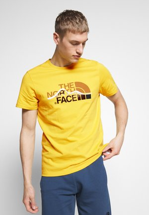 MOUNTAIN LINE TEE - T-shirt imprimé - bamboo yellow