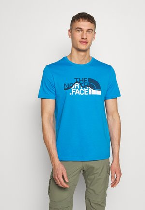 MOUNTAIN LINE TEE - T-shirt z nadrukiem - clear lake blue
