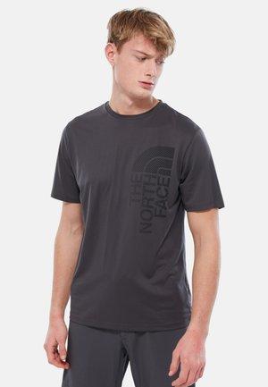 ONDRAS TEE  TNF - T-shirt z nadrukiem - grey/black