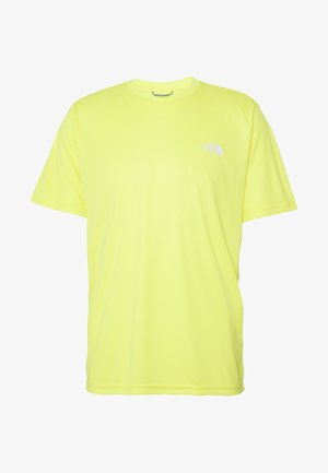 MENS REAXION AMP CREW - Basic T-shirt - lemon