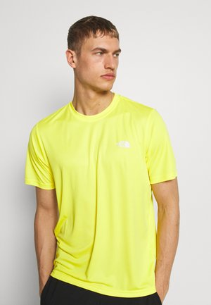 MENS REAXION AMP CREW - Basic T-shirt - lemon