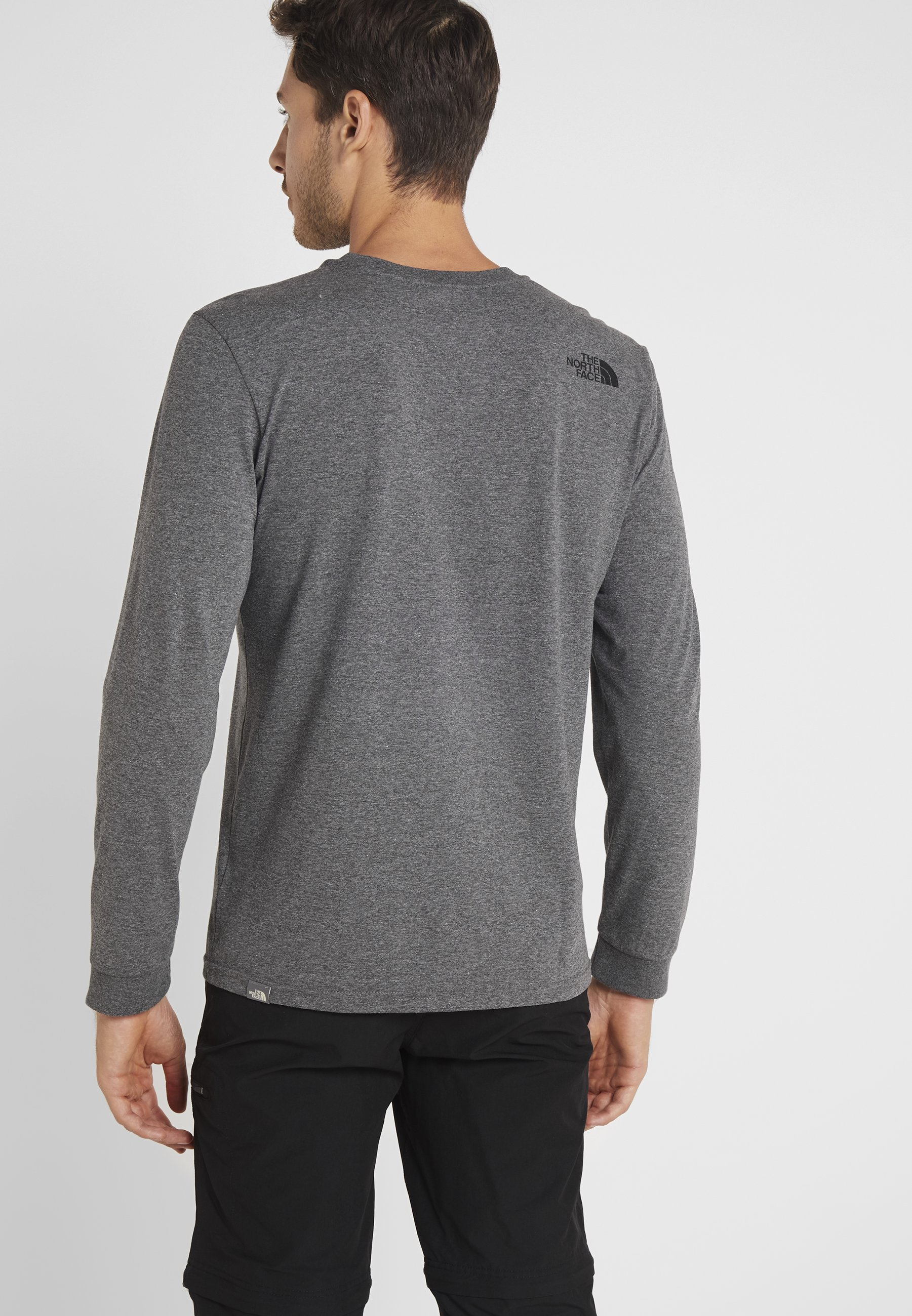À Grey shirt Manches Face North DomeT Heather Longues Medium The Simple POkiuXZ