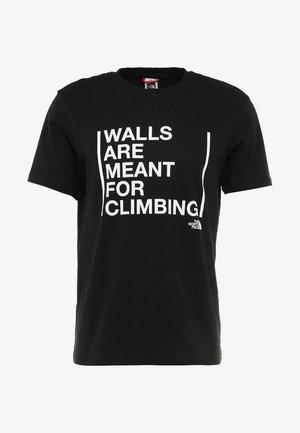 WALLS CLIMB TEE - T-shirt z nadrukiem - black