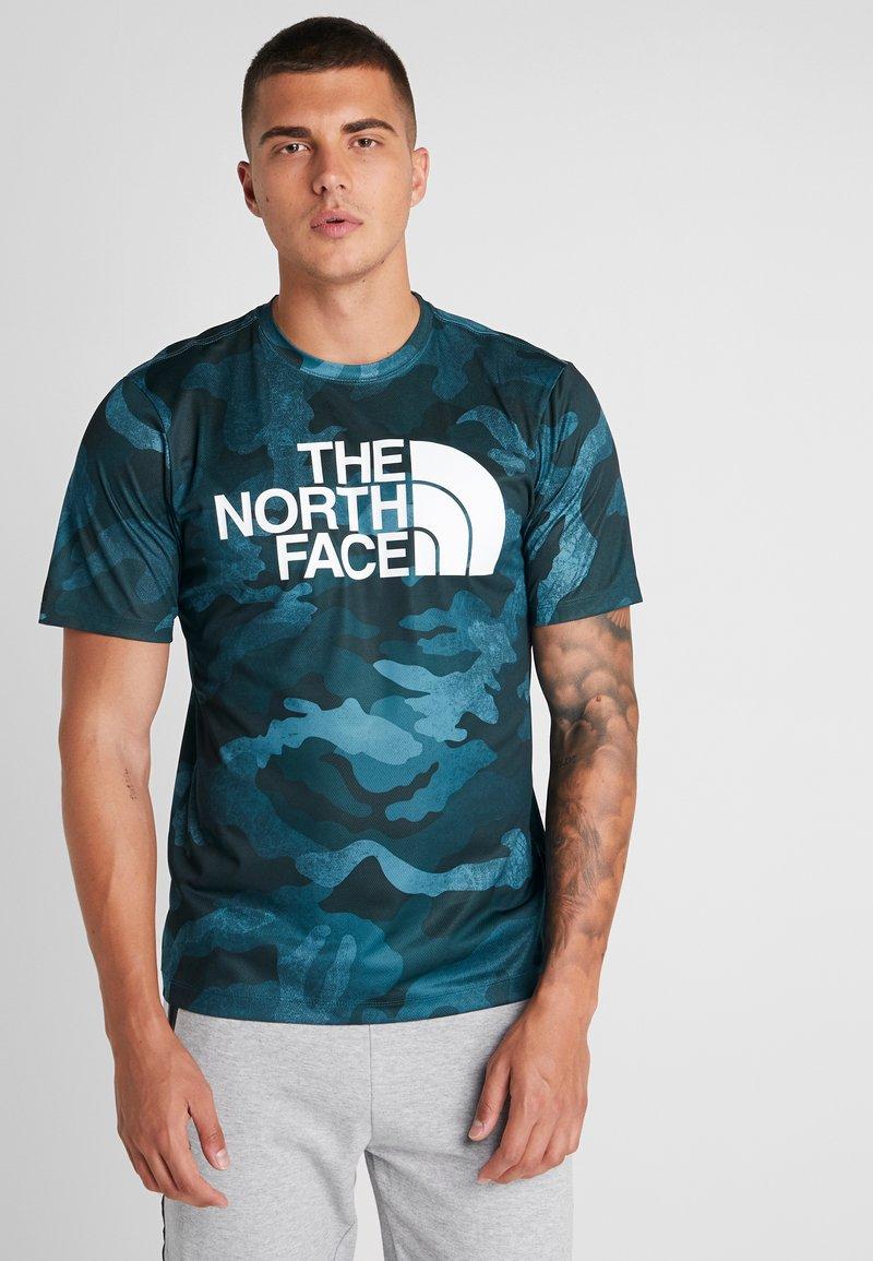 The North Face - FLEX BIG LOGO  - Camiseta estampada - pond green