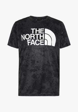 MENS REAXION EASY TEE - Print T-shirt - asphalt grey grunge