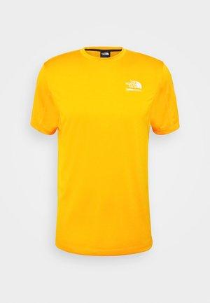 MENS GLACIER TEE - T-shirt z nadrukiem - flame orange
