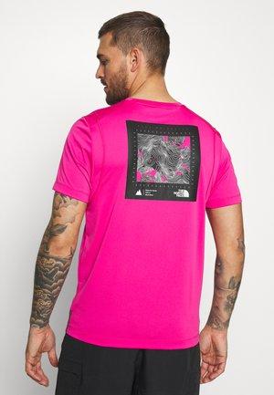 MENS GLACIER TEE - T-shirt z nadrukiem - mr pink