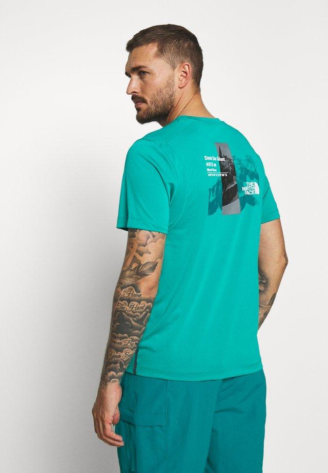 MENS GLACIER TEE - Camiseta estampada - jaiden green