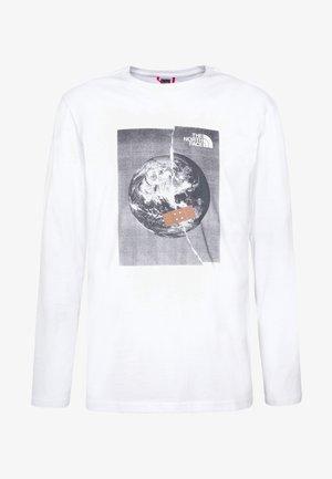 MENS GRAPHIC TEE - Bluzka z długim rękawem - white