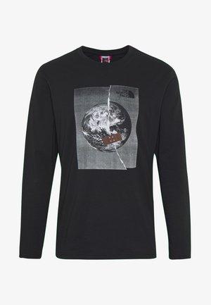 MEN'S GRAPHIC TEE - Long sleeved top - black/white