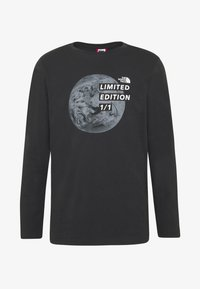 The North Face - MENS GRAPHIC TEE - Bluzka z długim rękawem - black/zinc grey - 4
