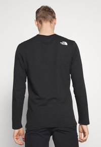 The North Face - MENS GRAPHIC TEE - Bluzka z długim rękawem - black/zinc grey - 2