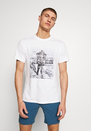 MENS GRAPHIC TEE - T-shirt imprimé - tnf white/tnf white