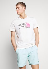 The North Face - MEN'S RUST TEE - Print T-shirt - vintage white/black - 0