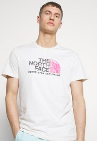 The North Face - MEN'S RUST TEE - Print T-shirt - vintage white/black - 3