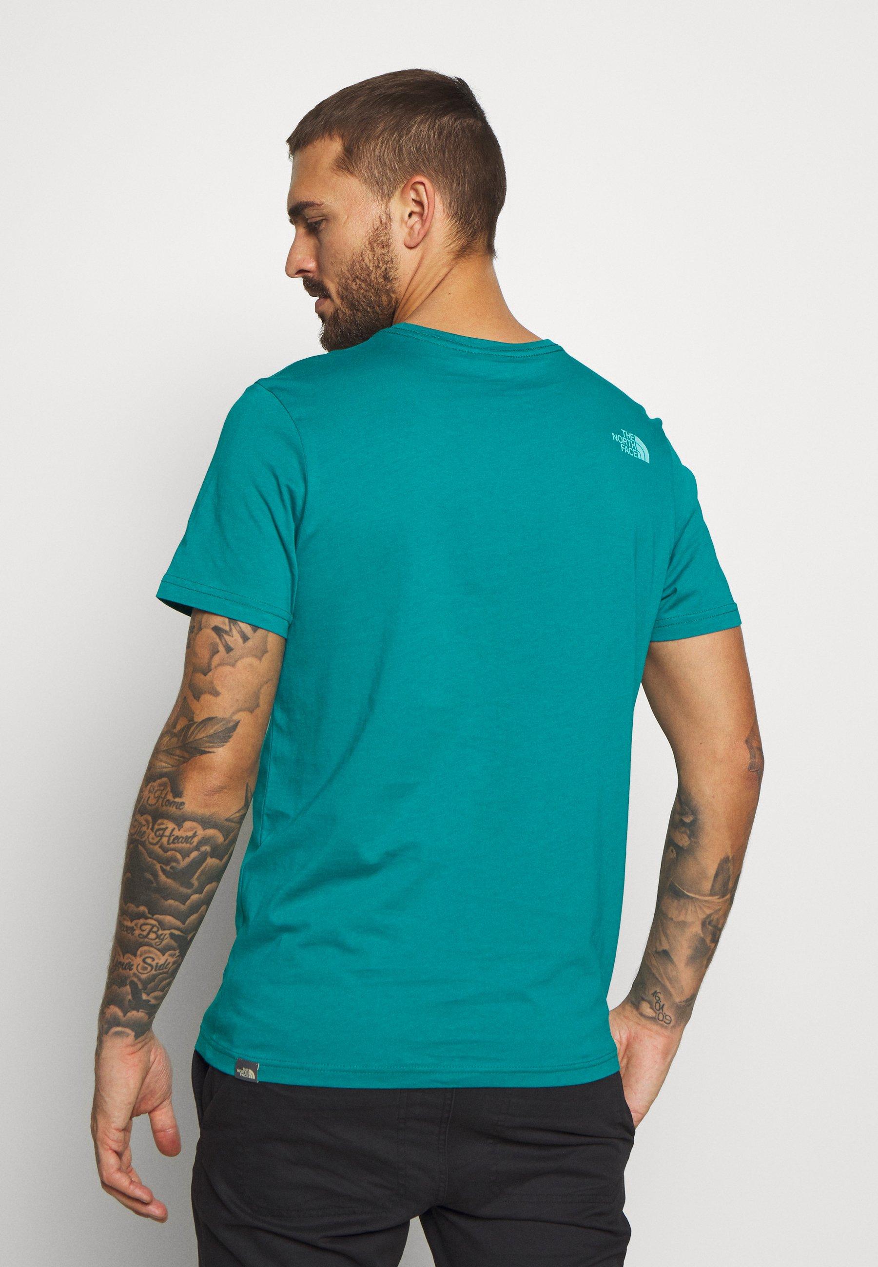 The North Face MEN'S RUST TEE - T-shirt z nadrukiem - fanfare green