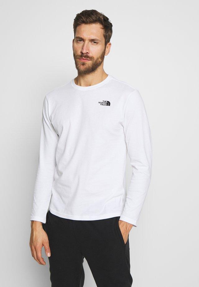 MENS BOX TEE - Bluzka z długim rękawem - white