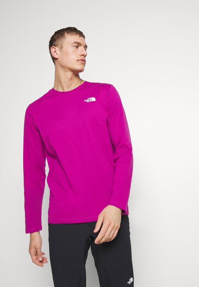 MENS BOX TEE - Bluzka z długim rękawem - wild aster purple