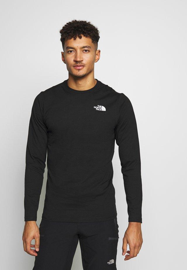 MENS BOX TEE - Bluzka z długim rękawem - tnf black