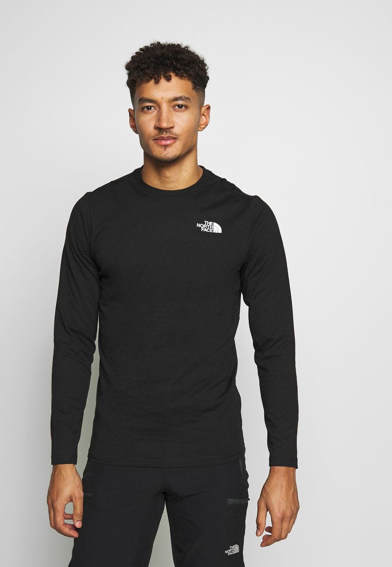 The North Face - MENS BOX TEE - Long sleeved top - tnf black