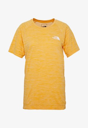 IMPENDOR SEAMLESS TEE - Triko s potiskem - flame orange/white heather