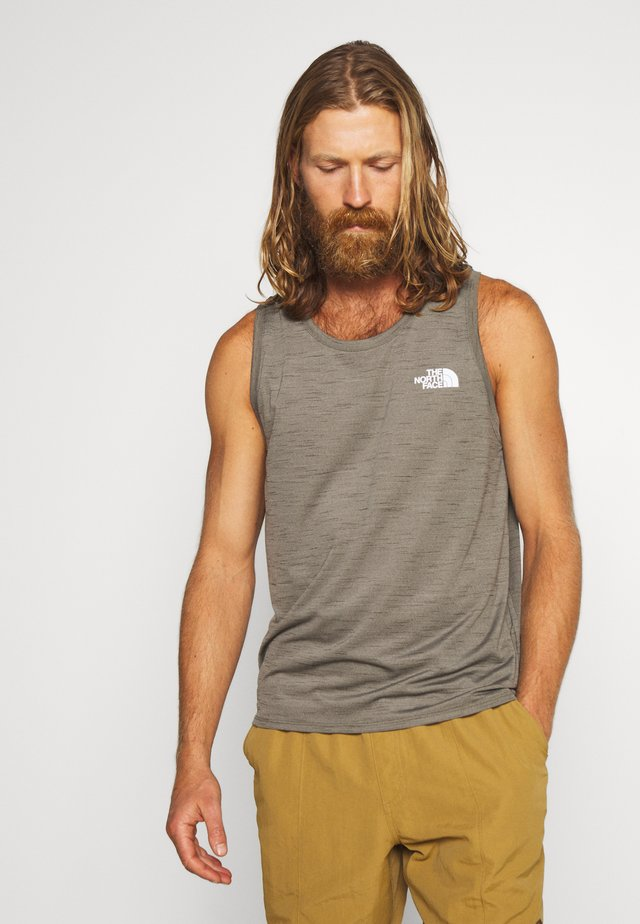 MEN ACTIVE TRAIL JACQUARD TANK - Top - new taupe green heather