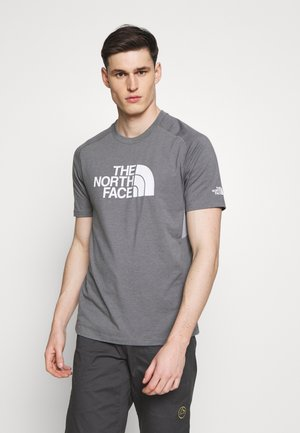 MENS WICKER GRAPHIC CREW - T-shirt z nadrukiem - medium grey heather/white