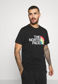 The North Face - RAINBOW TEE - T-shirts print - black - 0
