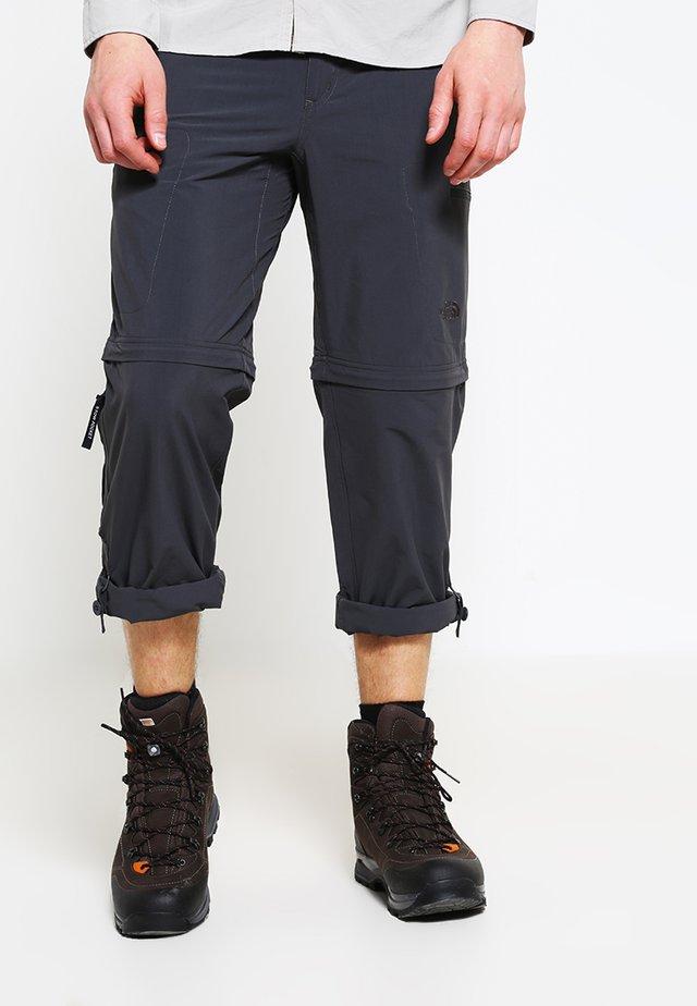 EXPLORATION CONVERTIBLE PANT - Friluftsbukser - asphalt grey