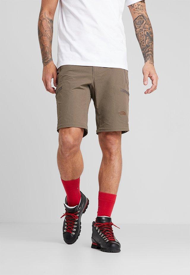 EXPLORATION CONVERTIBLE PANT - Outdoor trousers - weimaraner brown