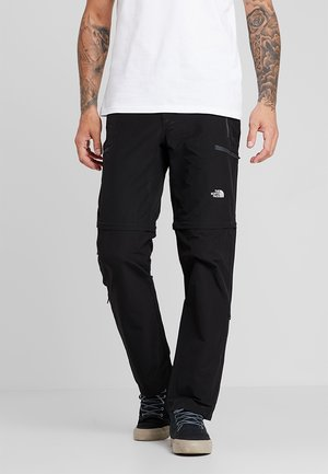 EXPLORATION CONVERTIBLE PANT - Pantalones montañeros largos - black