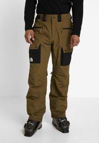 The North Face - SLASHBACK CARGO PANT - Snow pants - military olive/black - 0