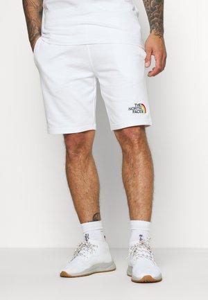 RAINBOW  - Tracksuit bottoms - white