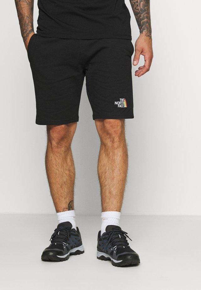 RAINBOW SHORT - Sports shorts - black