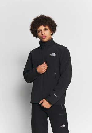 MENS APEX BIONIC JACKET - Soft shell jacket - black/white