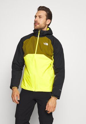 MENS STRATOS JACKET - Chaqueta Hard shell - lemon/black/green