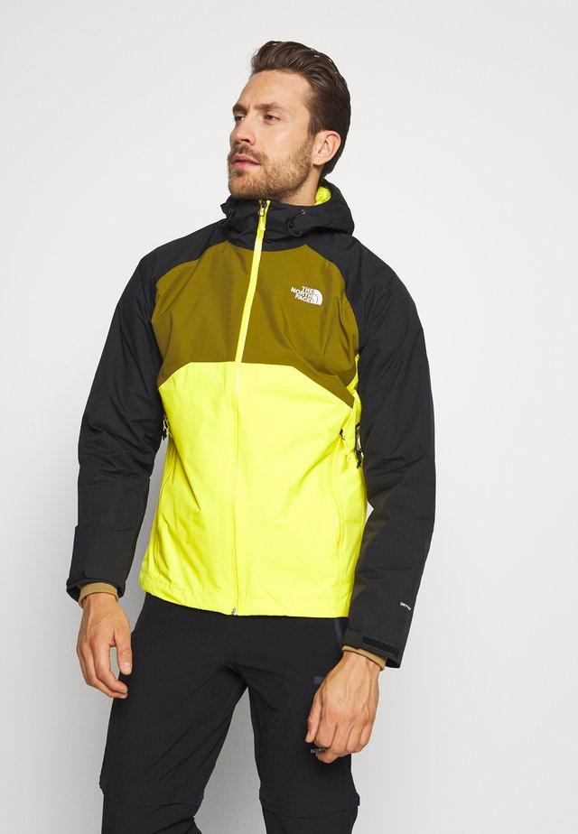 MENS STRATOS JACKET - Hardshell jacket - lemon/black/green