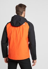 The North Face - MENS STRATOS JACKET - Kurtka hardshell - orange/black/picante red - 2