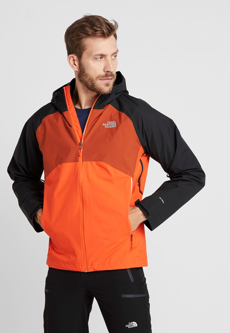 The North Face - MENS STRATOS JACKET - Kurtka hardshell - orange/black/picante red