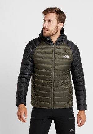 TREVAIL HOODIE - Down jacket - new taupe green/black