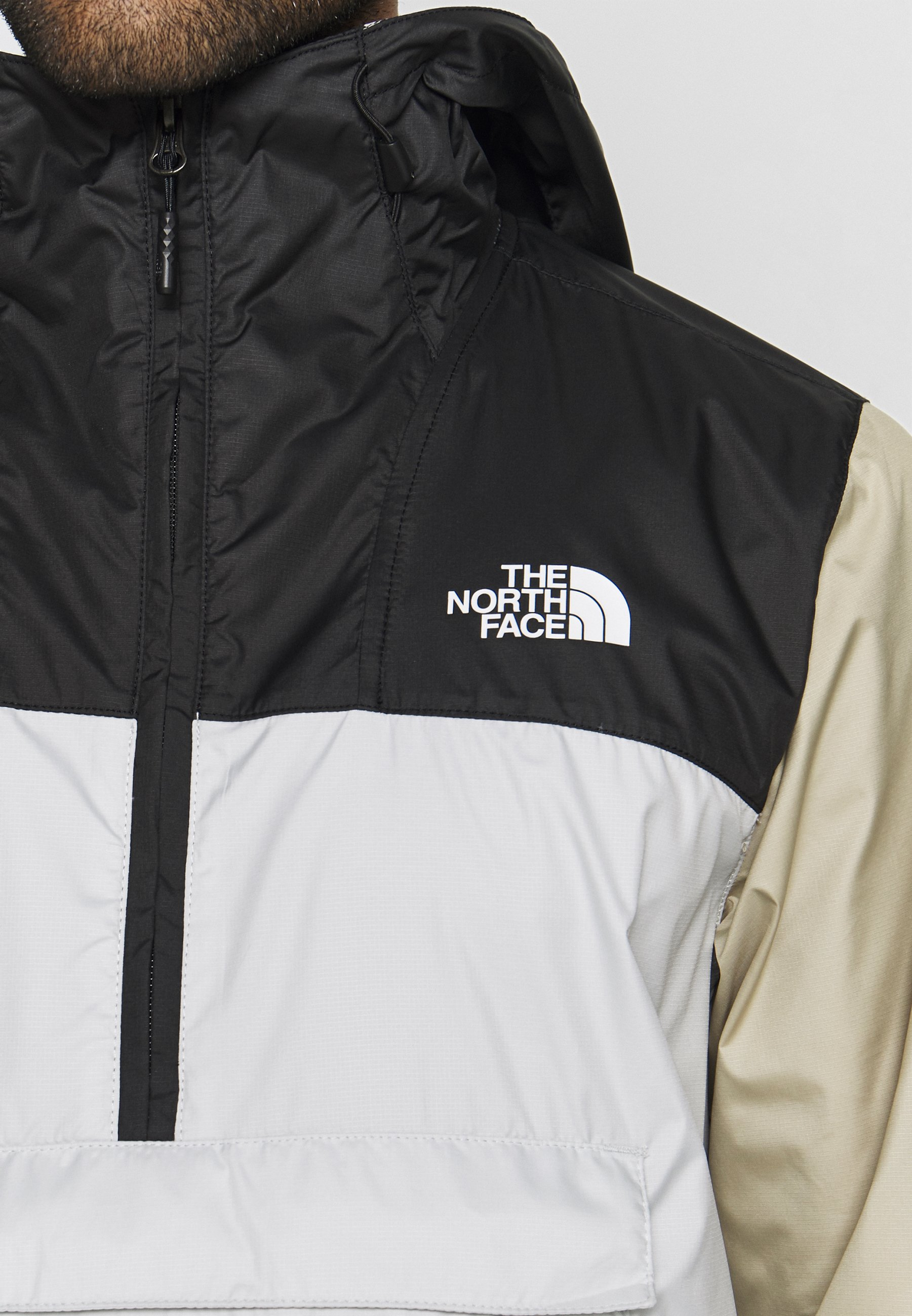 The North Face MENS FANORAK - Wiatrówka - tingrey/black/twill beige