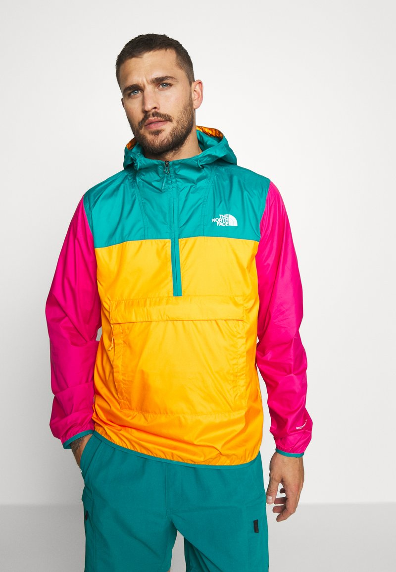 The North Face - MENS FANORAK - Veste coupe-vent - orange/teal/pink