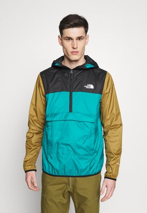 MENS FANORAK - Wiatrówka - teal/black/khaki